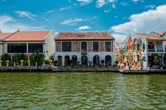Malacca flod Arkivfoton