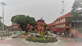 Malacca historical city centre. The historical centre of Malacca, Malaysia, on a rainy day Royalty Free Stock Photos