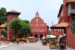 Malacca histrorical city. A historical city of malacca, a popular tourist attraction in malaysia Stock Images