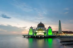 Malacca islam mosque is beutiful islam mosque in Malacca, Malays Royalty Free Stock Image
