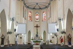 MALACCA, MALÁSIA - 16 DE JULHO DE 2016: Igreja de St Francis Xavier A cidade de Malacca é o capital do estado malaio de Malacca Foto de Stock Royalty Free