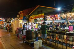 The night market on Friday,Saturday and Sunday is the best part of the Jonker Street, it sells stock photo