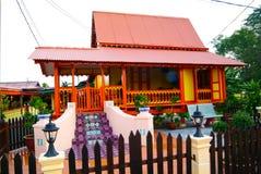 MALACCA, MALAYSIA - aug 4 : Traditional Malay House at Kampung M Stock Photography