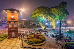 Malacca, Malaysia - circa September 2015: Melaka Clock Tower at Dutch Square in Malacca,  Malaysia Royalty Free Stock Photography