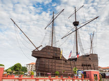 MALACCA, MALAYSIA - FEB 29: Malacca Maritime Museum. On February 29, 2016 in Malacca, Malaysia. It is a replica of the 'Flora de La Mar' a Portuguese ship that royalty free stock photography