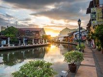 MALACCA, MALAYSIA - February 29: Early morning with sunrise alon Stock Photo