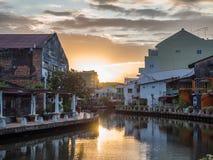 MALACCA, MALAYSIA - February 29: Early morning with sunrise alon Royalty Free Stock Photography