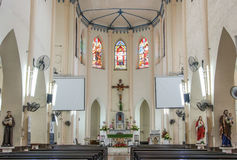 MALACCA, MALAYSIA - JUL 16, 2016: Church of St. Francis Xavier. Malacca City is the capital city of the Malaysian state of Malacca. It was listed as a UNESCO Royalty Free Stock Photo