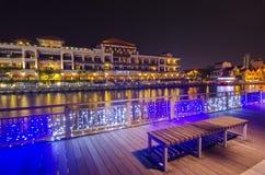 MALACCA, MALAYSIA - March 7, 2016: Beautiful night view at Malac Stock Image