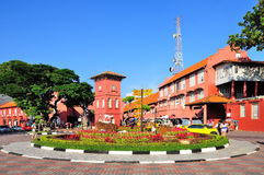 MALACCA, MALAYSIA. MAY 19: A view of Christ Church & Dutch Square on May 19, 2012 in . It was built in 1753 by Dutch & is the oldest 18th century Protestant Stock Images