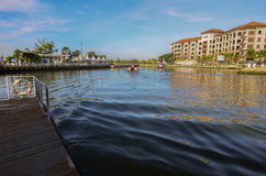 View of old building at malacca river side Stock Photography