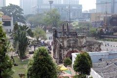 MALACCA, MALAYSIA - October15: Tourists at Malacca city Royalty Free Stock Image