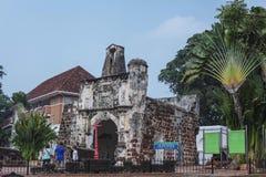 MALACCA, MALAYSIA - October 15: Tourists at Malacca city on Oct Royalty Free Stock Photos