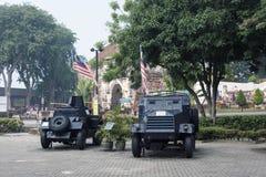 MALACCA MALAYSIA - Oktober 15: Turister på den Malacca staden på Oktober royaltyfri bild