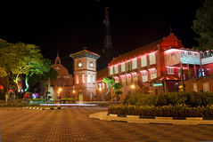 Malacca malaysia square with dutch colonial archit Stock Images