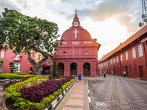 MALACCA, MALEISIË - 29 FEBRUARI: De Kerk van Malacca Christus in Nederlandse Squar Royalty-vrije Stock Afbeeldingen