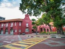 MALACCA, MALEISIË - 29 FEBRUARI: Malacca Art Gallery bij Nederlands Vierkant Royalty-vrije Stock Afbeeldingen