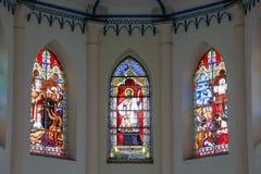 MALACCA, MALEISIË - 16 JULI, 2016: Kerk van St Francis Xavier De Stad van Malacca is de hoofdstad van de Maleise staat van Malacc Stock Afbeeldingen