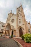 MALACCA, MALEISIË - 16 JULI, 2016: St Francis Xavier Church in de ochtend op 16 Juli, 2016 in Malacca, Maleisië Stock Fotografie