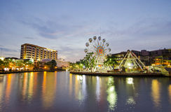MALACCA, MALEISIË - MAART 23: Het oog van Malacca op de banken van Melaka Royalty-vrije Stock Afbeeldingen