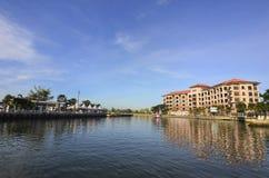 MALACCA, MALEISIË - 7 NOV., 2015 de bootzeilen van de Cruisereis op Ma Royalty-vrije Stock Foto