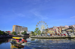 MALACCA, MALEISIË - 7 NOV., 2015 de bootzeilen van de Cruisereis op Ma Stock Foto's
