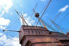 Malacca maritimt museum på den Malacca staden arkivbild