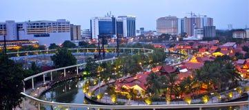 Malacca na noite Imagens de Stock