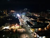 Malacca at night. View of Malacca as seen from Taming Sari Tower stock photography
