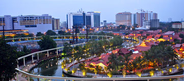 Malacca by night Stock Images