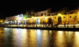 Malacca nocy widok Zdjęcia Royalty Free
