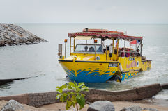 Malacca river cruise boat Royalty Free Stock Photography