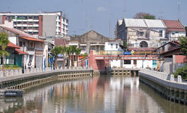 Malacca River at Kampang Jawa Royalty Free Stock Photo