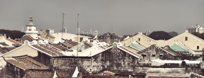 Malacca  rooftops Stock Image