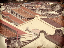 Malacca  rooftops Royalty Free Stock Images