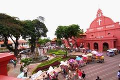 Malacca stad Malaysia Arkivbilder