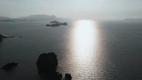 Malacca Strait. Islands, rocks in the sea near Tanjung Rhu Beach, Langkawi stock video