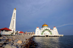 Malacca Straits Mosque Stock Photo
