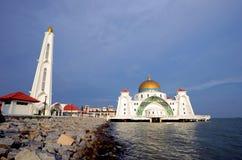 Malacca Straits Mosque Stock Photo