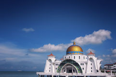 Malacca Straits Mosque Royalty Free Stock Image