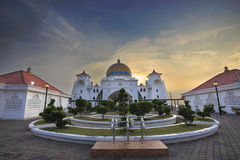 Malacca Straits Mosque Front Entrance Royalty Free Stock Images