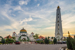 The Malacca Straits Mosque in Malacca state Malaysia Stock Photo