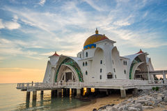 The Malacca Straits Mosque in Malacca state Malaysia Stock Image