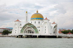 Malacca Straits Mosque, Malaysia Stock Images
