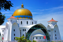 Malacca Straits Mosque Royalty Free Stock Images