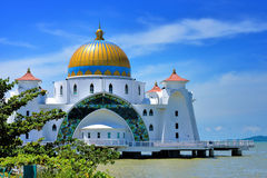 Malacca Straits Mosque Royalty Free Stock Photos