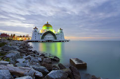 Malacca Straits Mosque (Masjid Selat Melaka) is a mosque located Stock Image