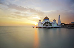 Malacca Straits Mosque (Masjid Selat Melaka) is a mosque located Stock Images