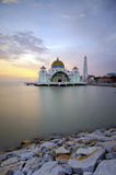 Malacca Straits Mosque (Masjid Selat Melaka) is a mosque located Royalty Free Stock Photography