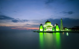 Malacca Straits Mosque (Masjid Selat Melaka) is a mosque located Royalty Free Stock Photo